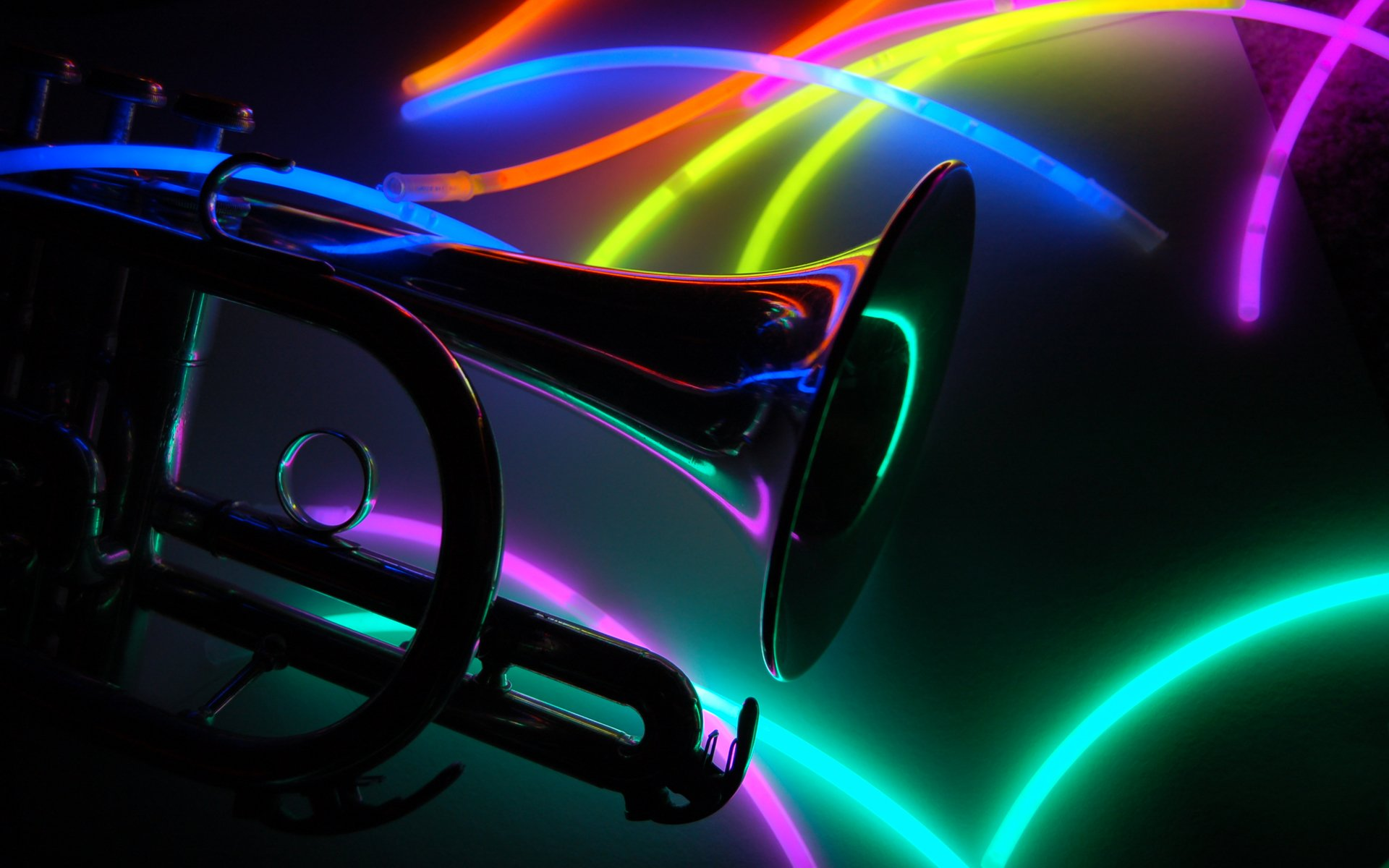 colorful trumpet desktop wallpaper 63169