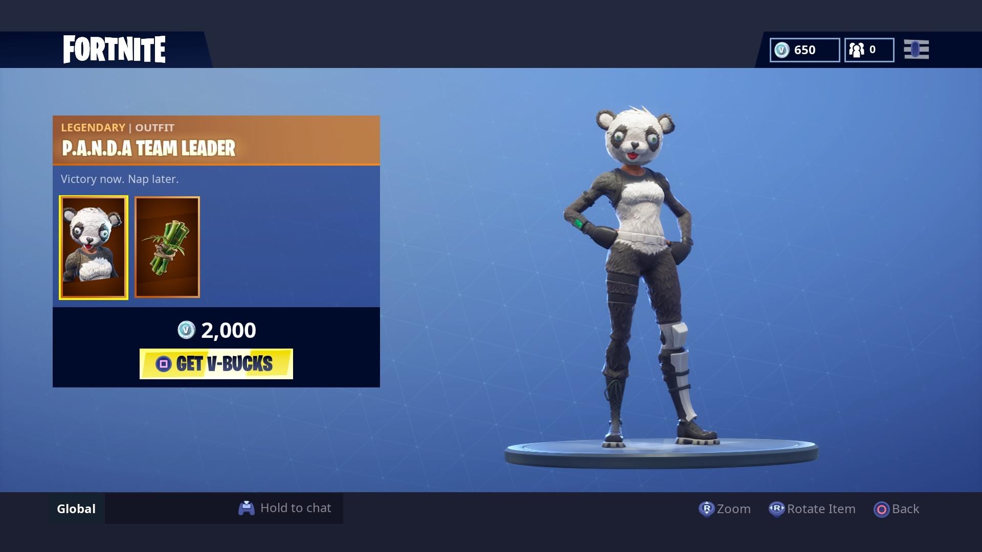 fortnite panda team leader wallpaper 65190