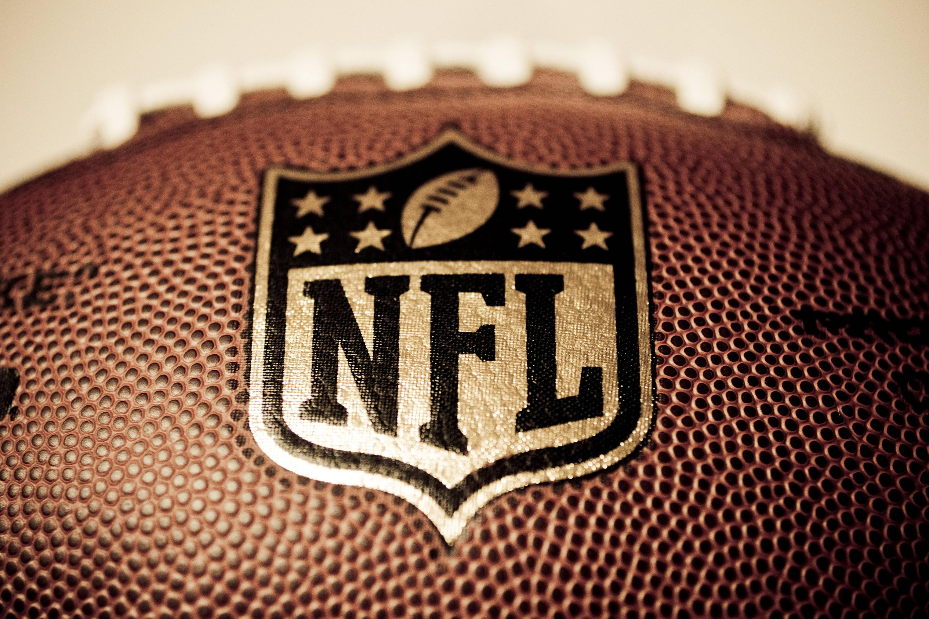nfl football up close wide wallpaper 63158