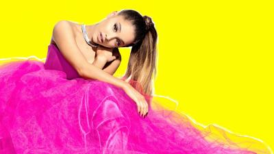 Ariana Grande Pink Dress Wallpaper 64560
