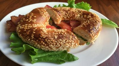 Bagel Sandwich Widescreen Wallpaper 62991