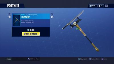 Fortnite Filet Axe Wallpaper 65196