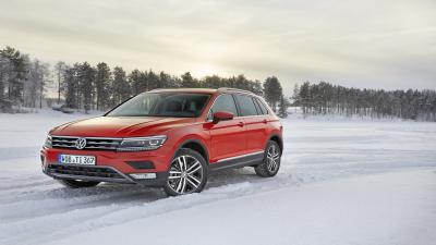Red Volkswagen Tiguan Wide Wallpaper 65870