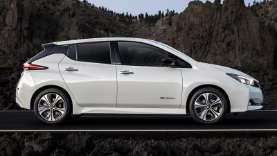 White Nissan Leaf Wallpaper 65970