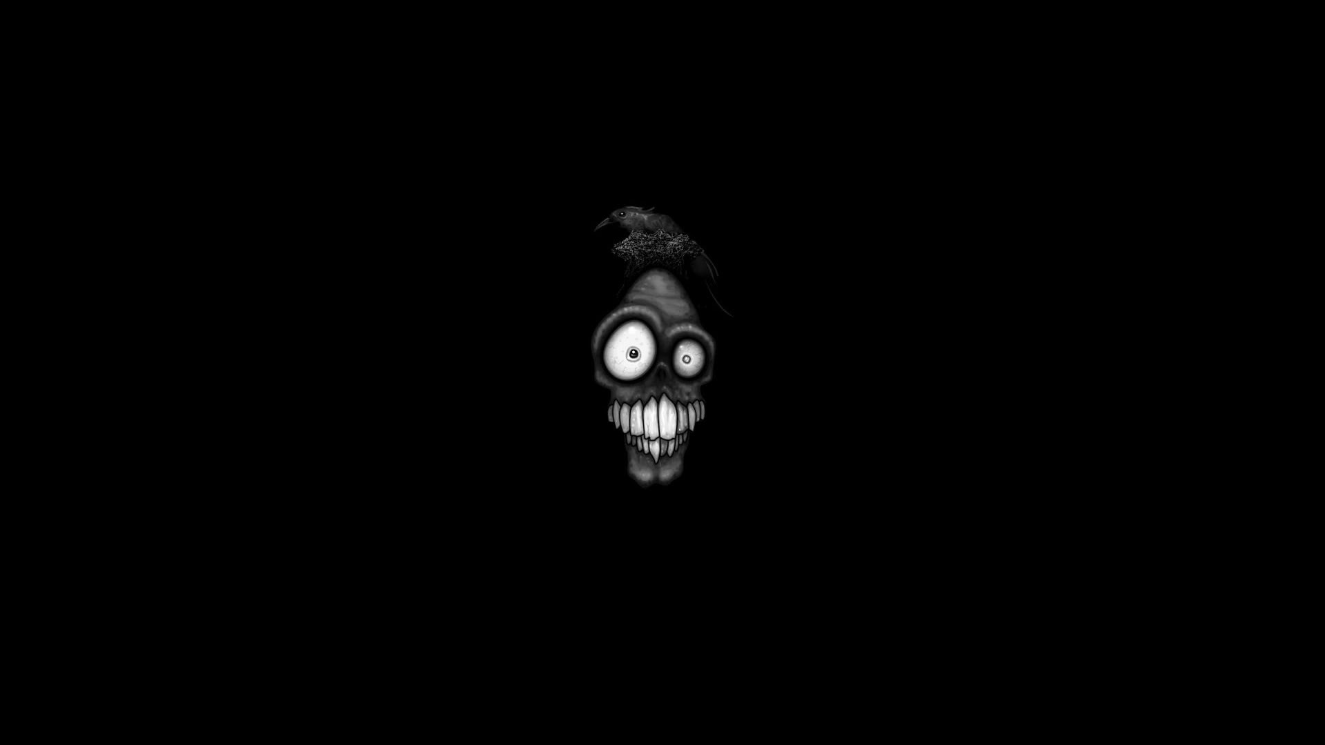 black scary face wallpaper 62997