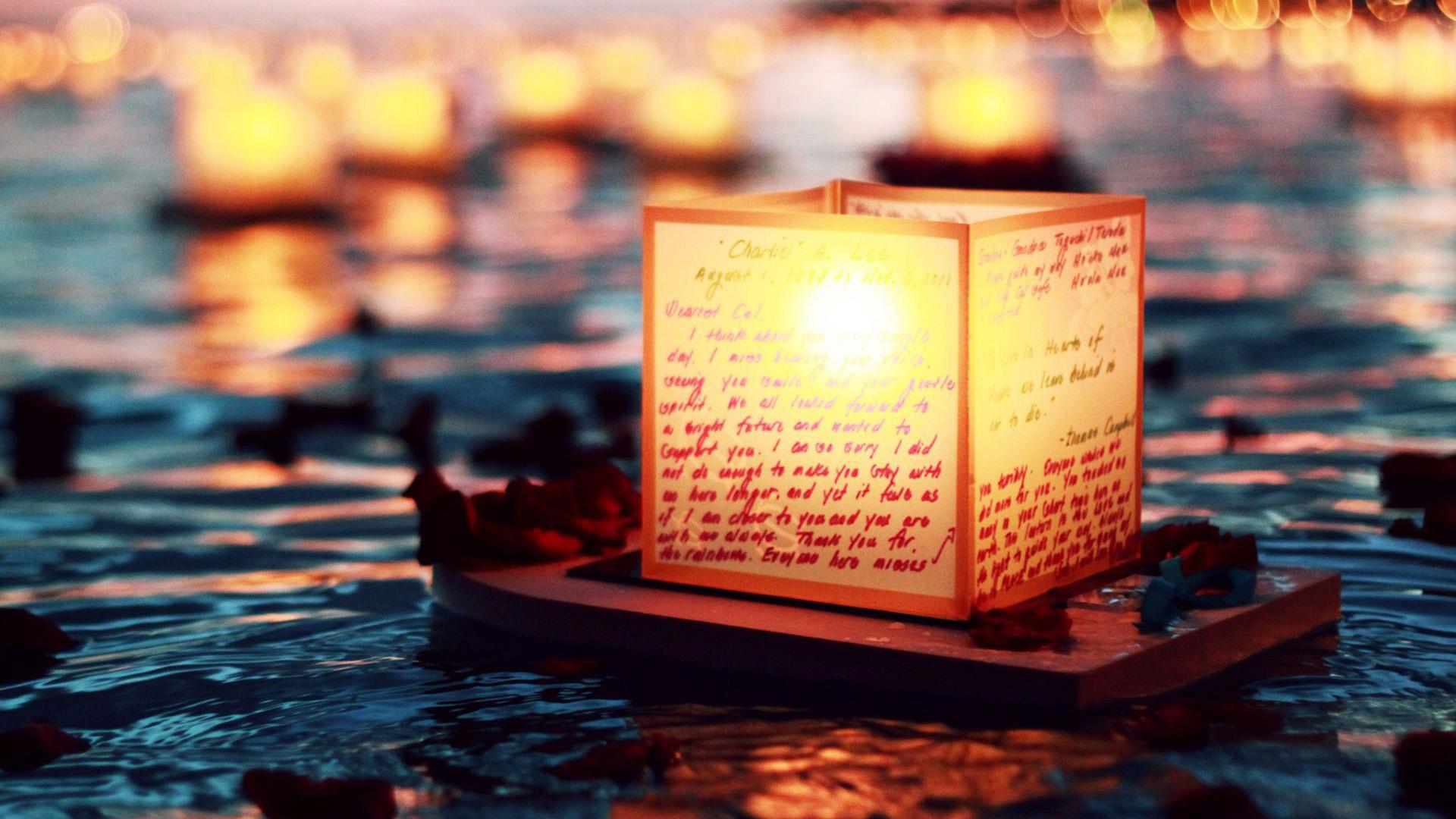floating lantern desktop wallpaper 65931
