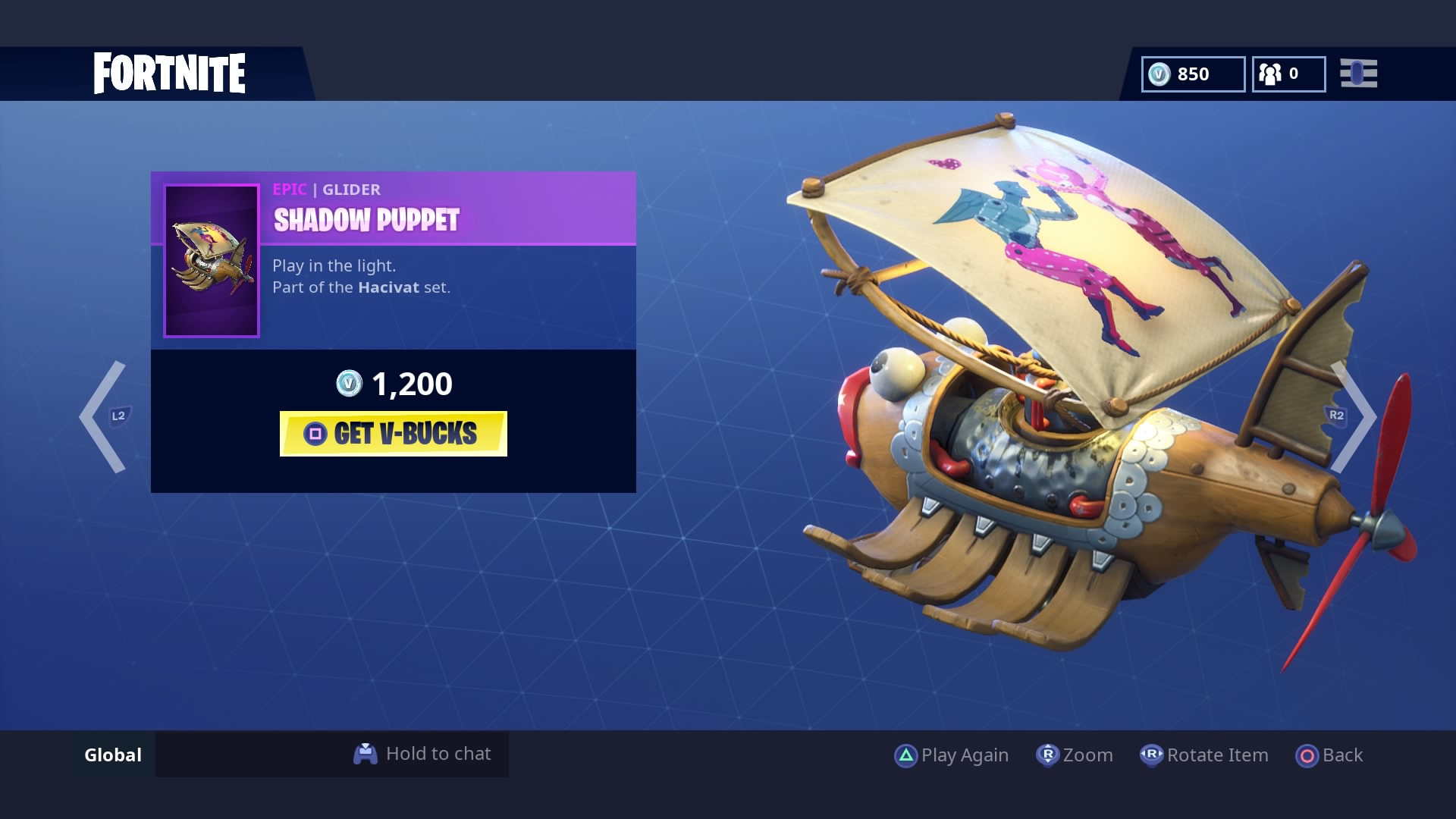 fortnite shadow puppet glider wallpaper 65220