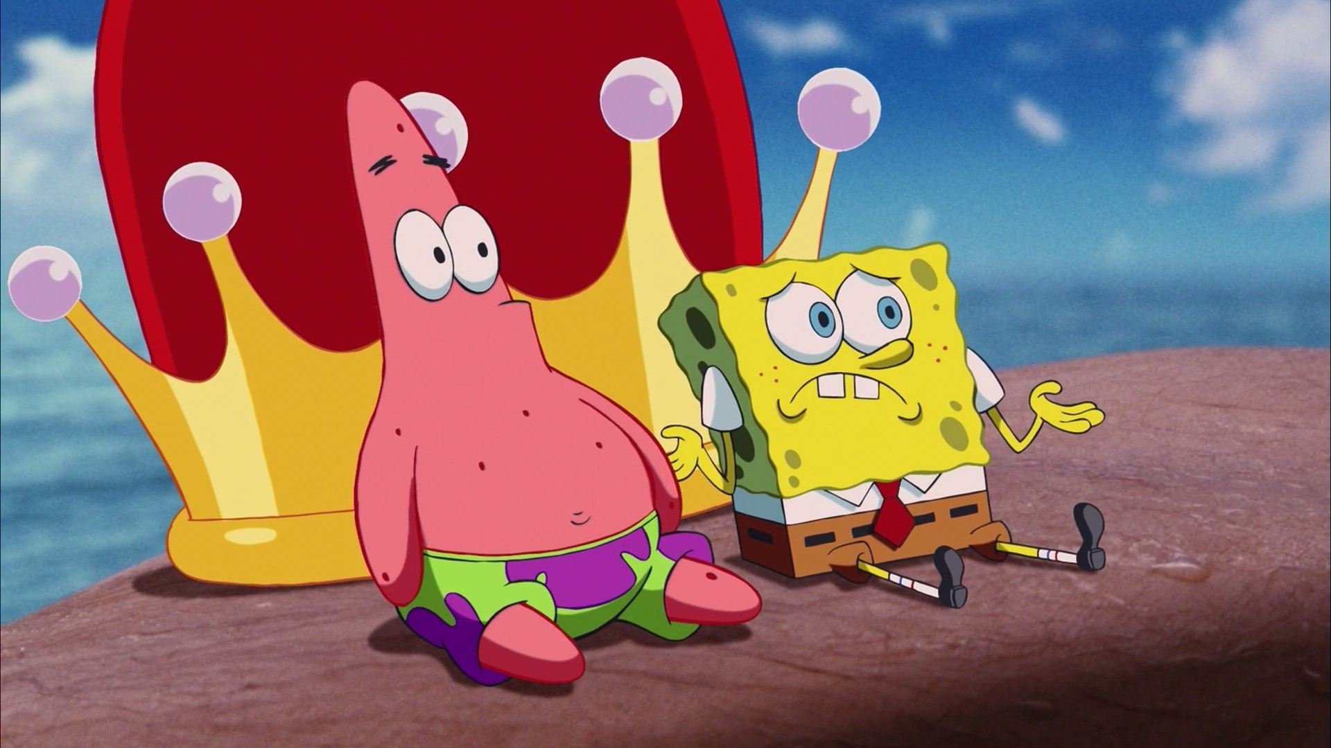patrick star and spongebob desktop hd wallpaper 64266