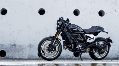 Black Ducati Scrambler Bike Wallpaper 65291