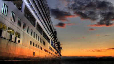 Cruise Ship Sunset Wallpaper 62637