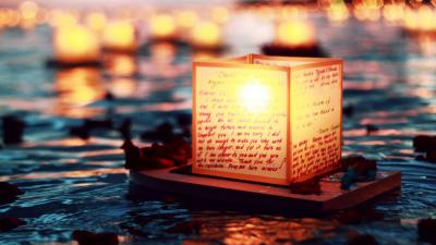 Floating Lantern Desktop Wallpaper 65931