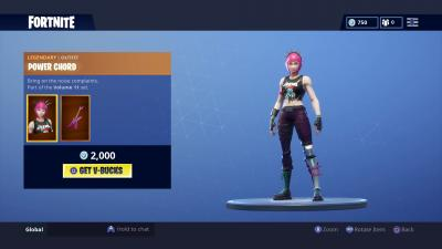 Fortnite Power Chord Skin Wallpaper 65212