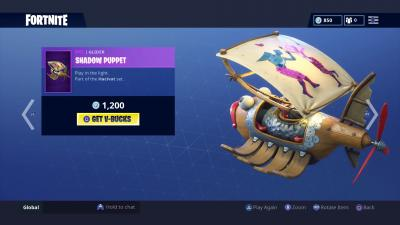Fortnite Shadow Puppet Glider Wallpaper 65220
