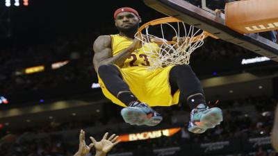 LeBron James Dunking Wallpaper 66368