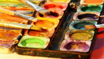 Paint Brushes Up Close Desktop Wallpaper 63179