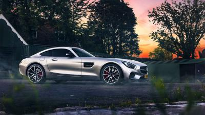 Silver Mercedes Benz Widescreen HD Wallpaper 63177