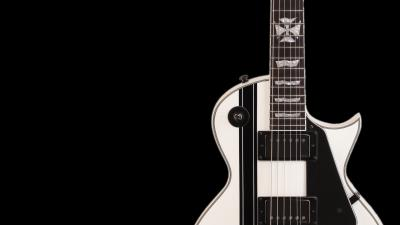 White Guitar Wallpaper 66468