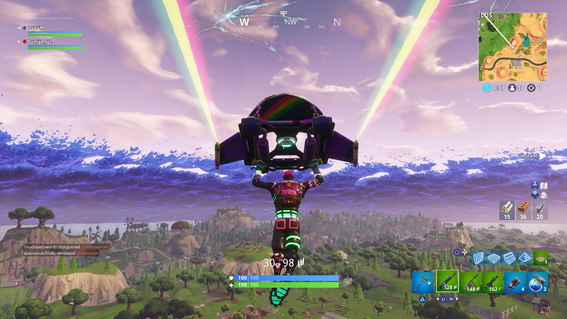 fortnite rainbow glider rift wallpaper 64533