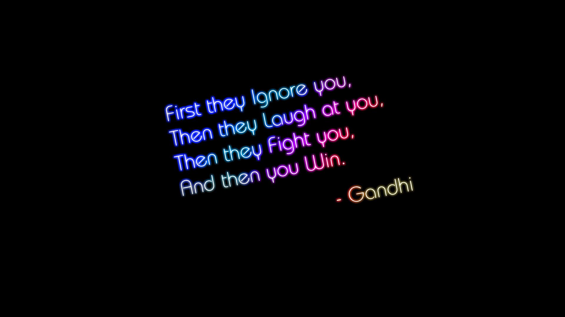 Gandhi Quote Desktop Wallpaper 62810