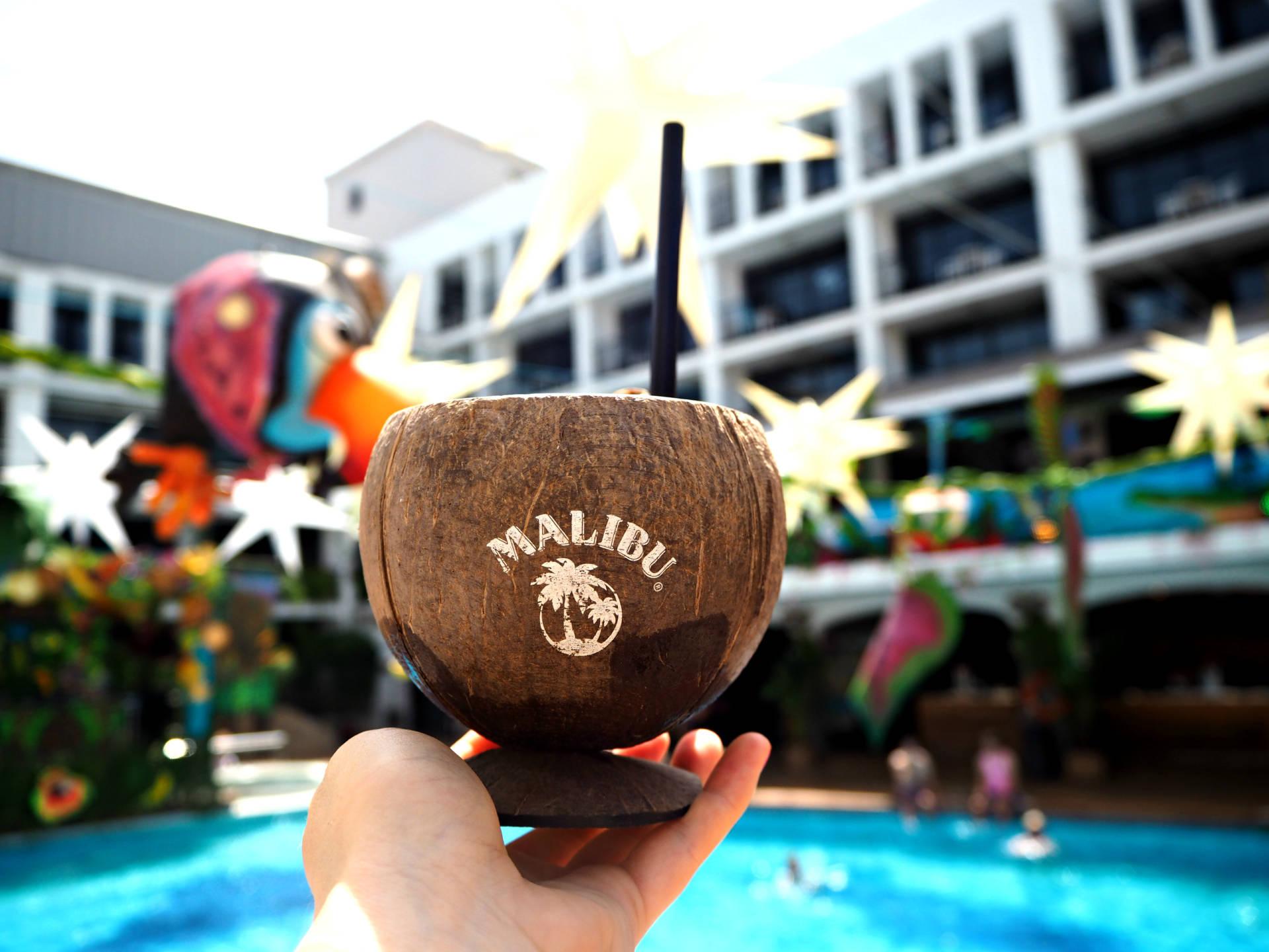 malibu rum drink hd wallpaper 66407