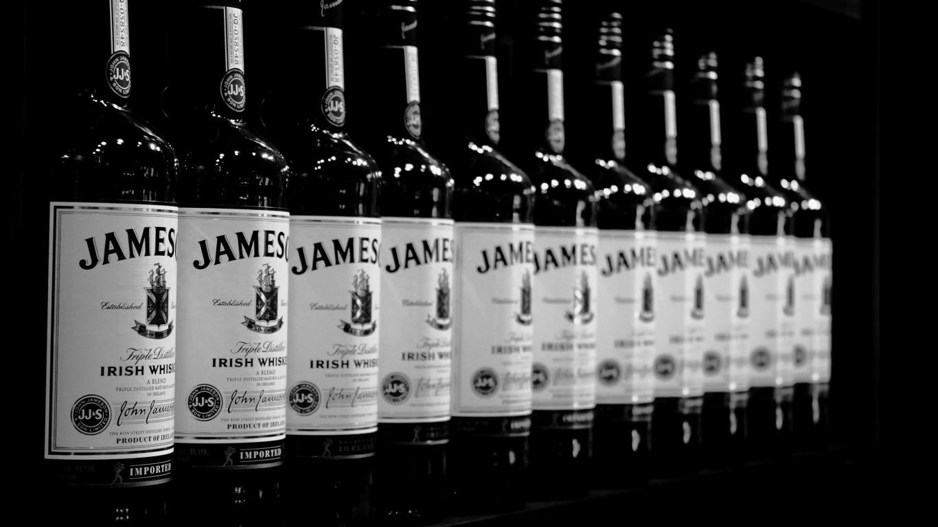 monochrome jameson irish whisky wallpaper 66402