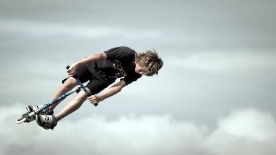 Boys Scooter Jump Wallpaper 62827