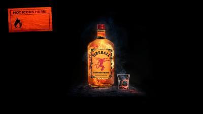 Fireball Whisky Alcohol Wallpaper 66392