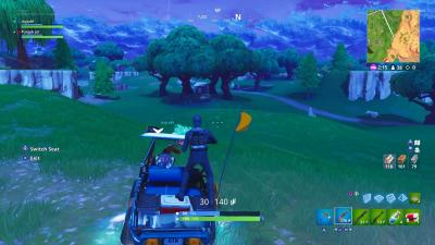 Fortnite Golf Cart Drift Wallpaper 64532