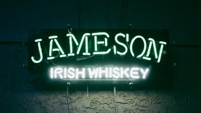 Jameson Irish Whisky Neon Sign Wallpaper 66396