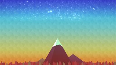 Mountain Peak Digital Art Wallpaper 62627
