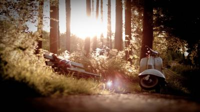 Scooter Sunset Photography Wallpaper 62825