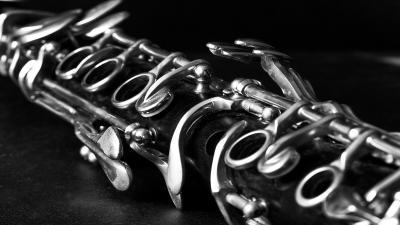 Monochrome Clarinet Wallpaper Background 63232