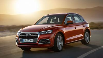 Red Audi Q5 Background Wallpaper 65999