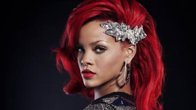 Rihanna Red Hair Background Wallpaper 65531