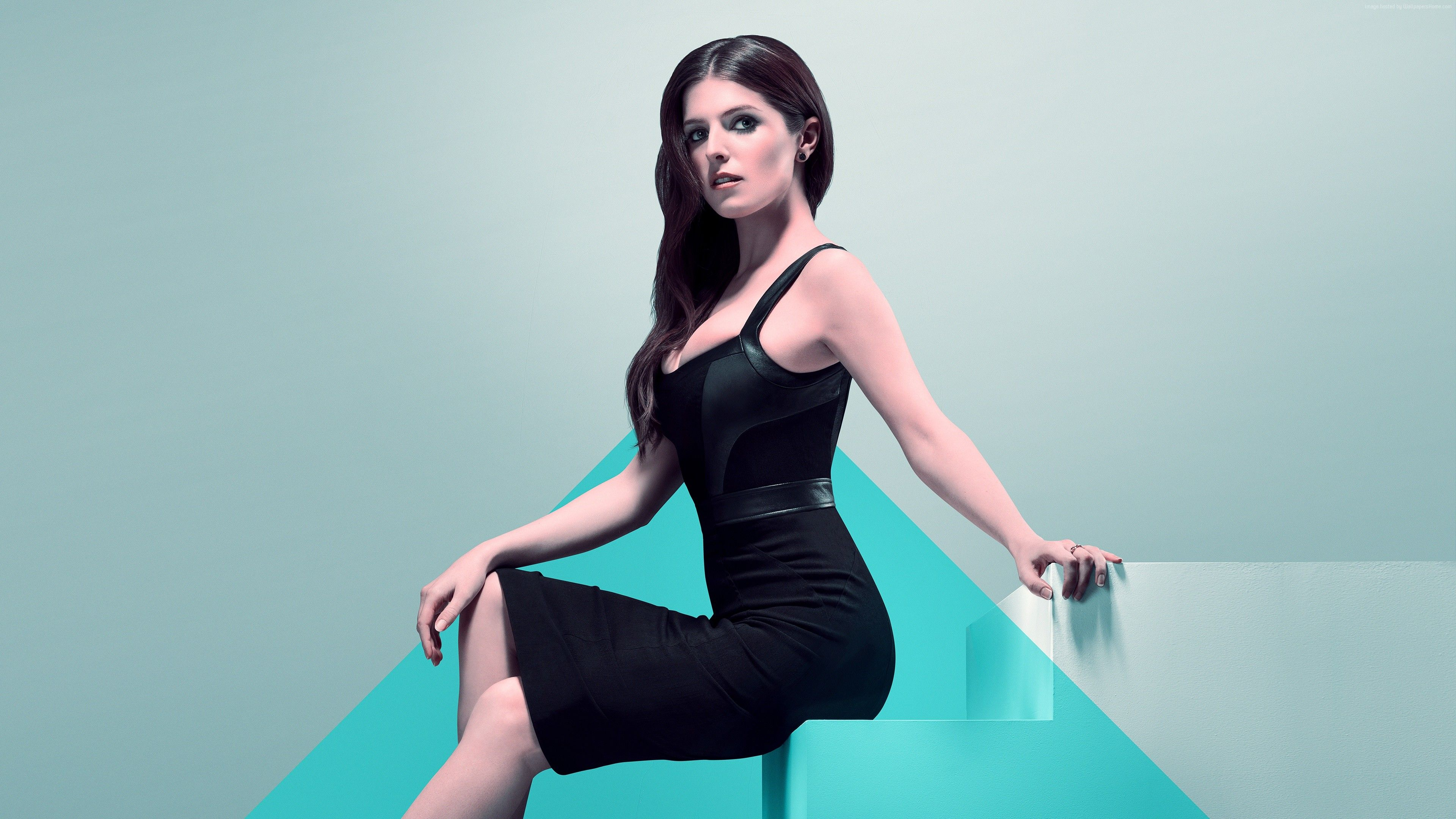 anna kendrick black dress wallpaper 65698