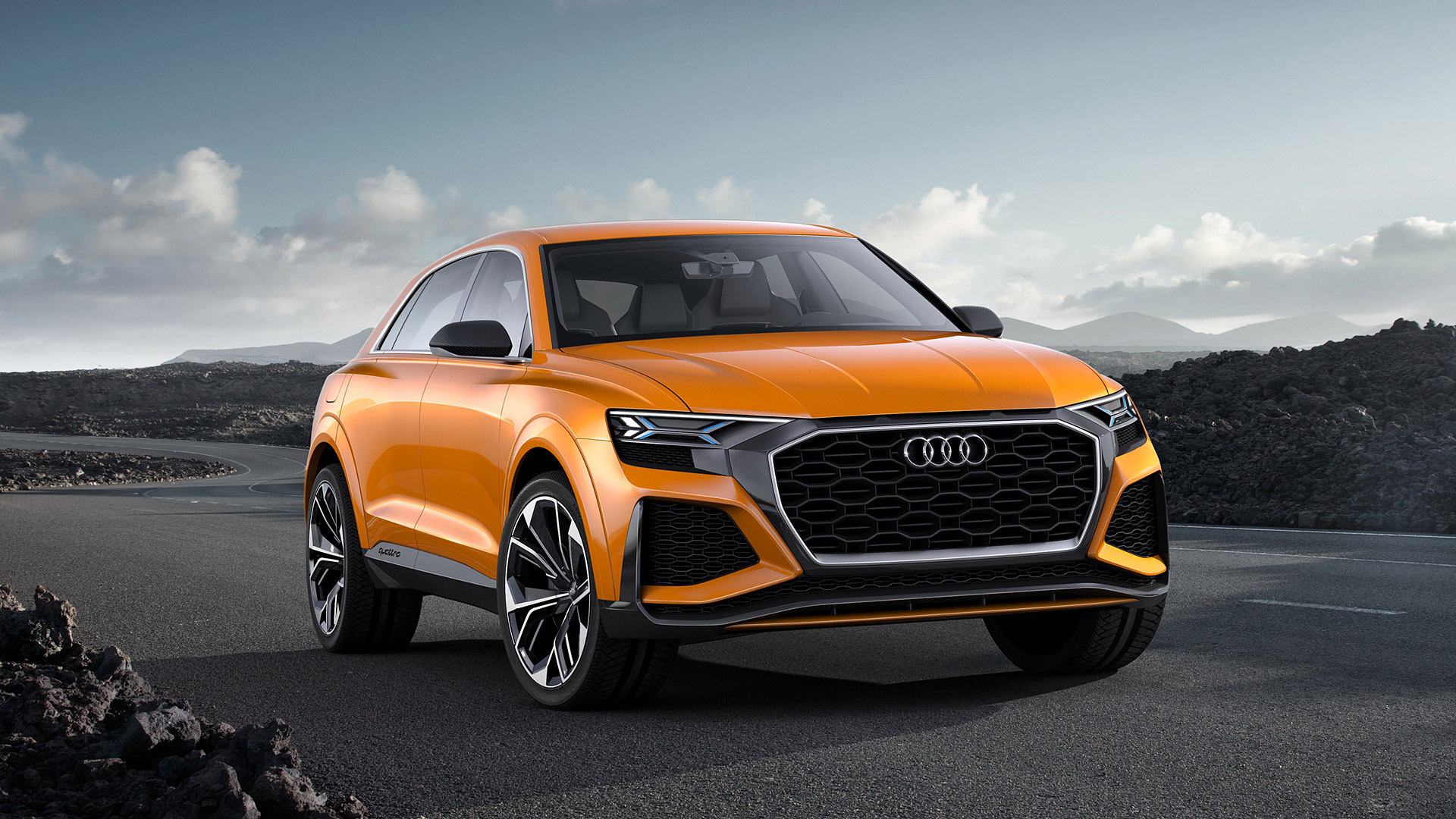 audi q8 front view wallpaper 66024