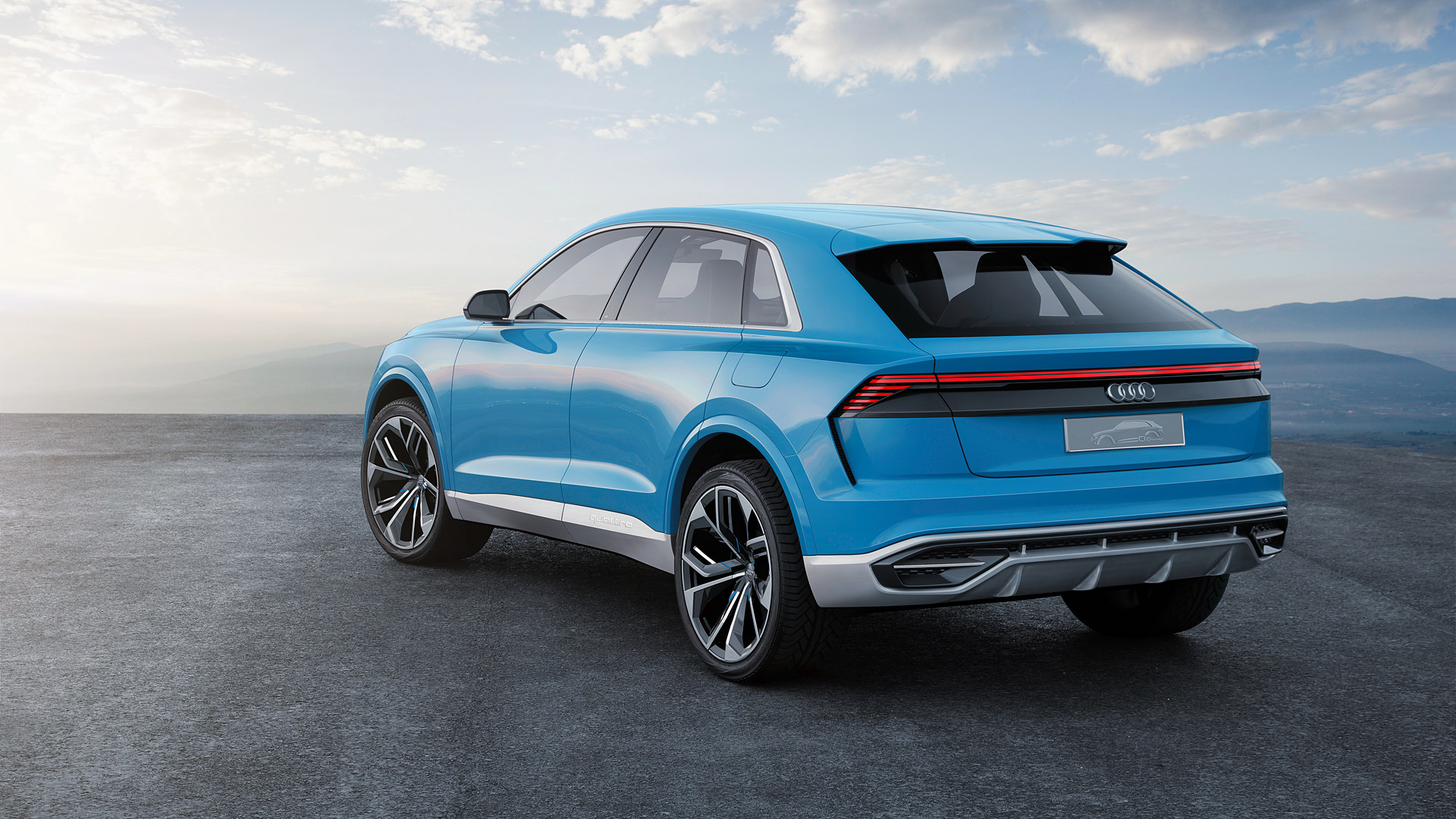 audi q8 rear view wallpaper 66023