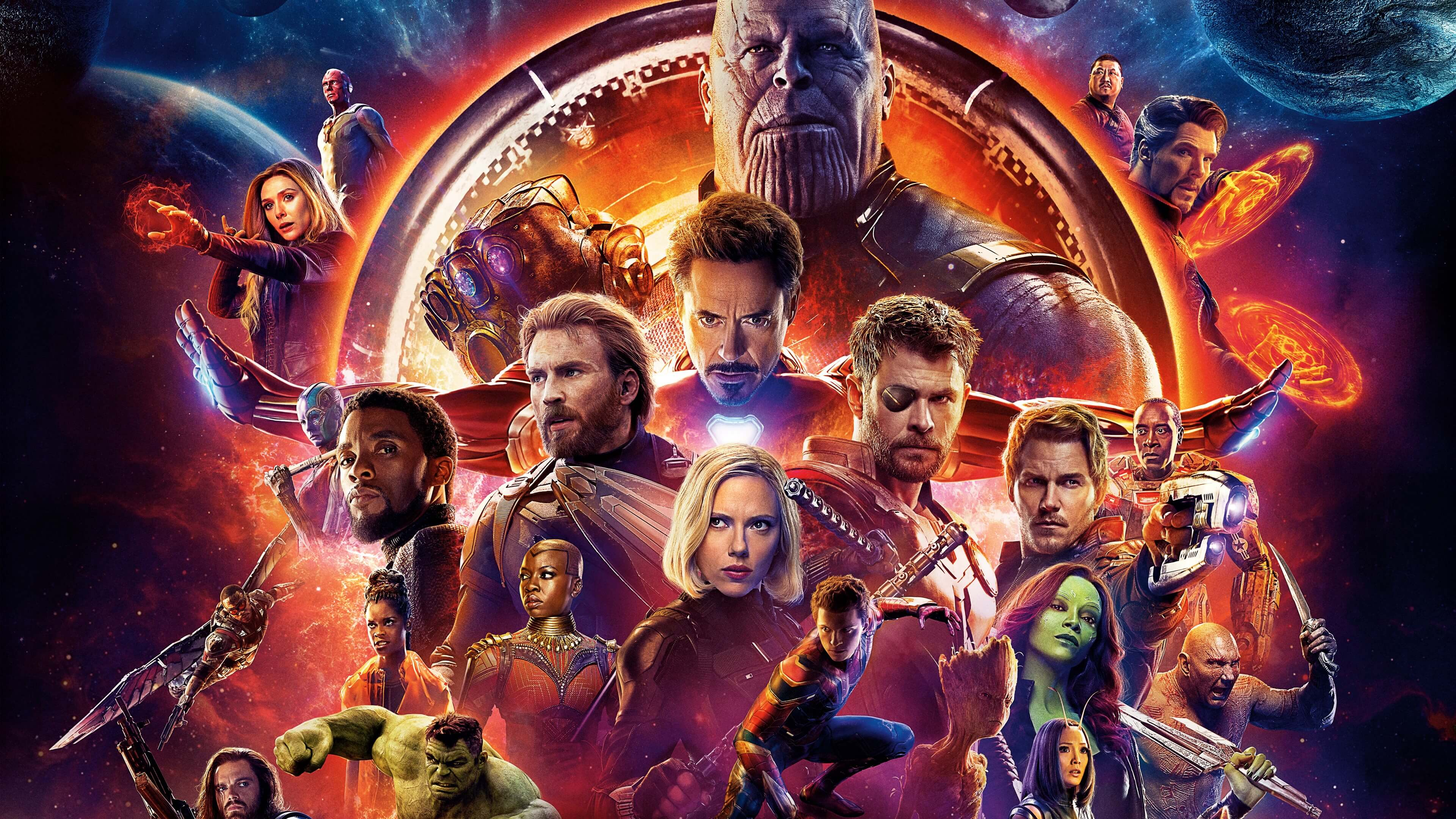 avengers infinity war movie wallpaper background hd 63587 3840x2160px
