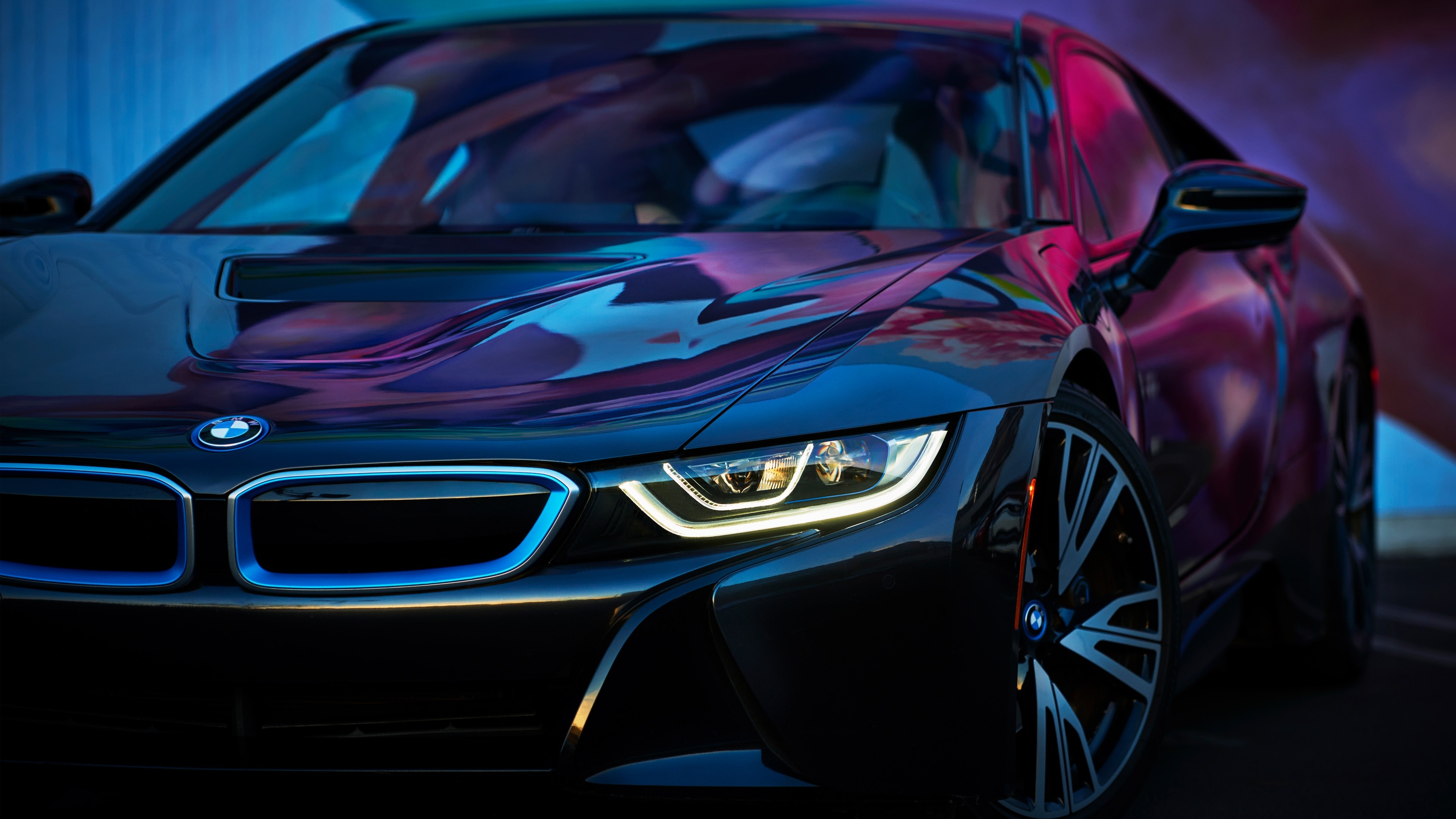 bmw i8 headlights hd pictures wallpaper 64643