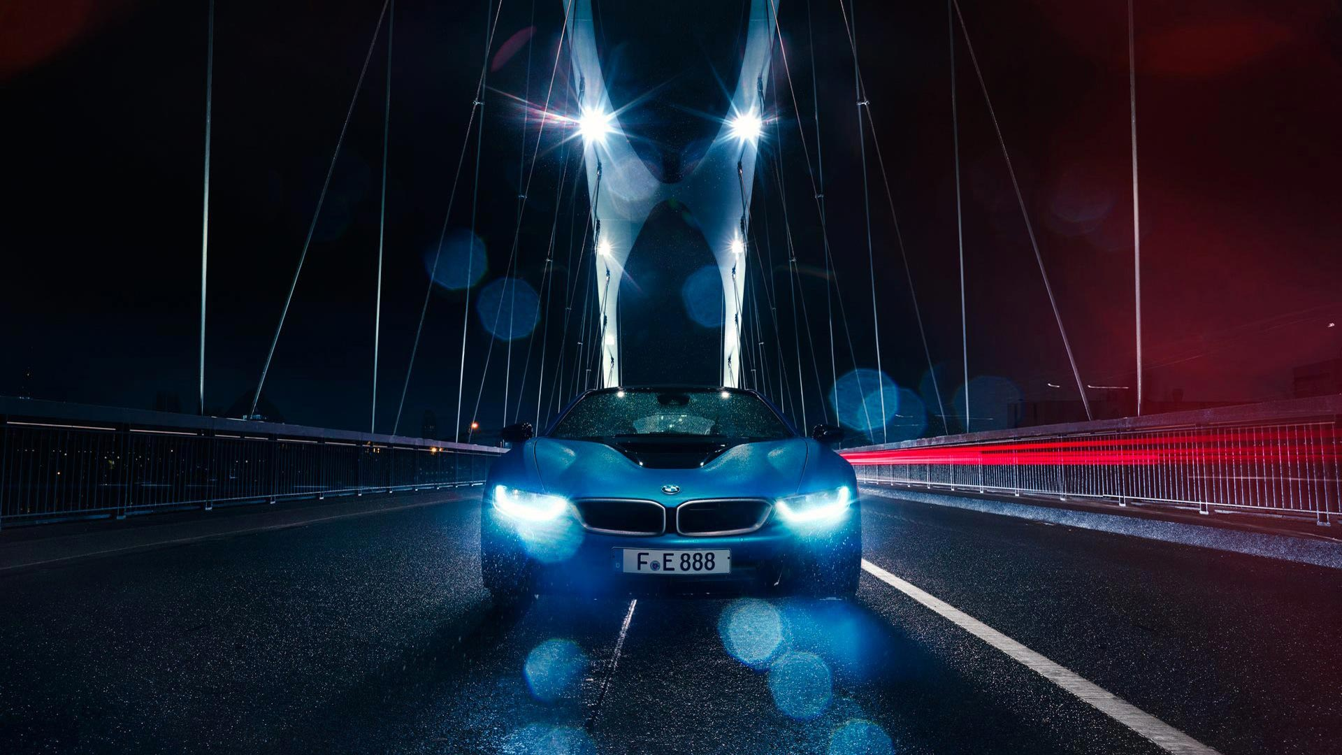 Bmw I8 On Bridge Hd Wallpaper 64656 1920x1080px