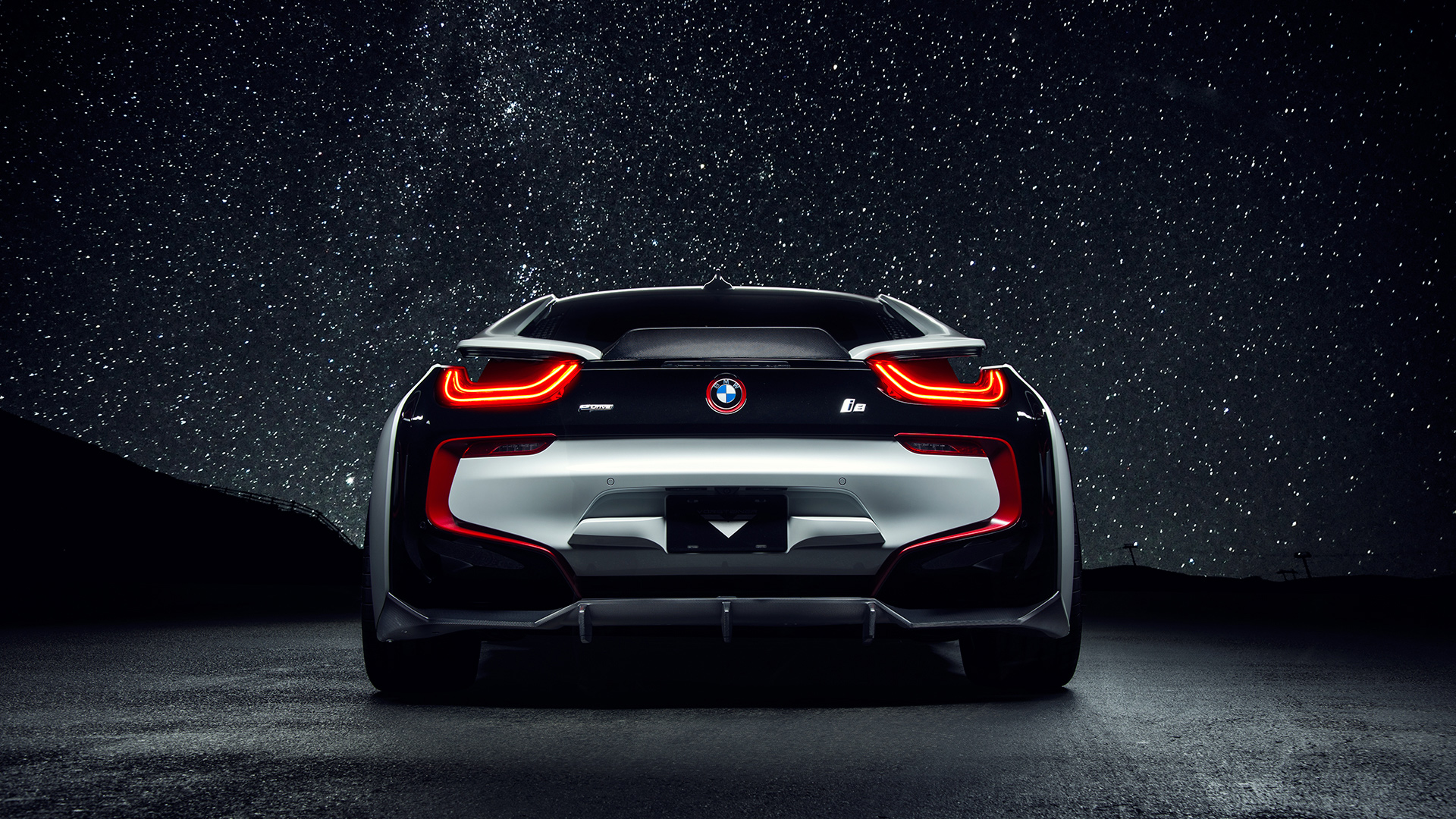 Bmw I8 Rear View Hd Wallpaper 64657 1920x1080px