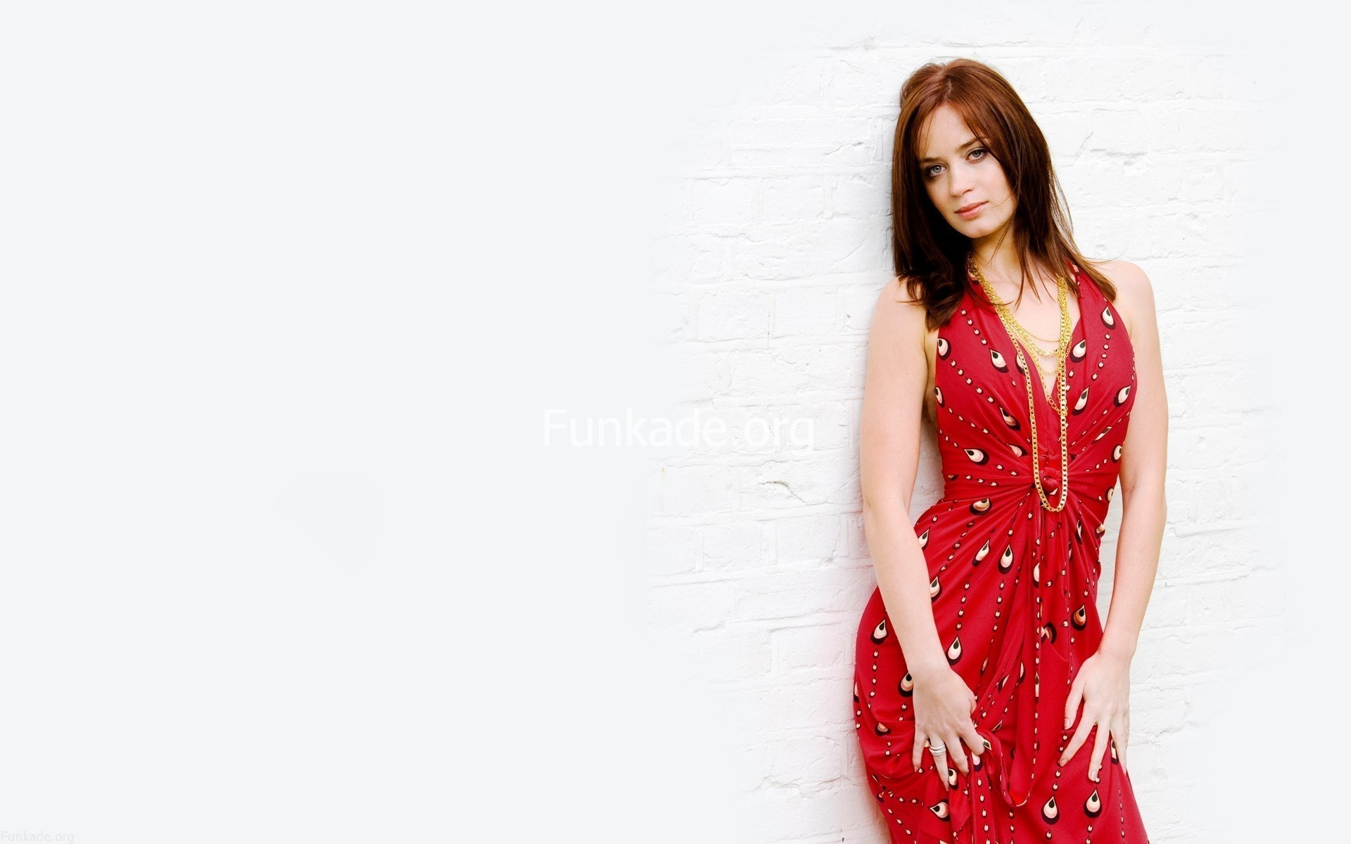 emily blunt red dress wallpaper 66110