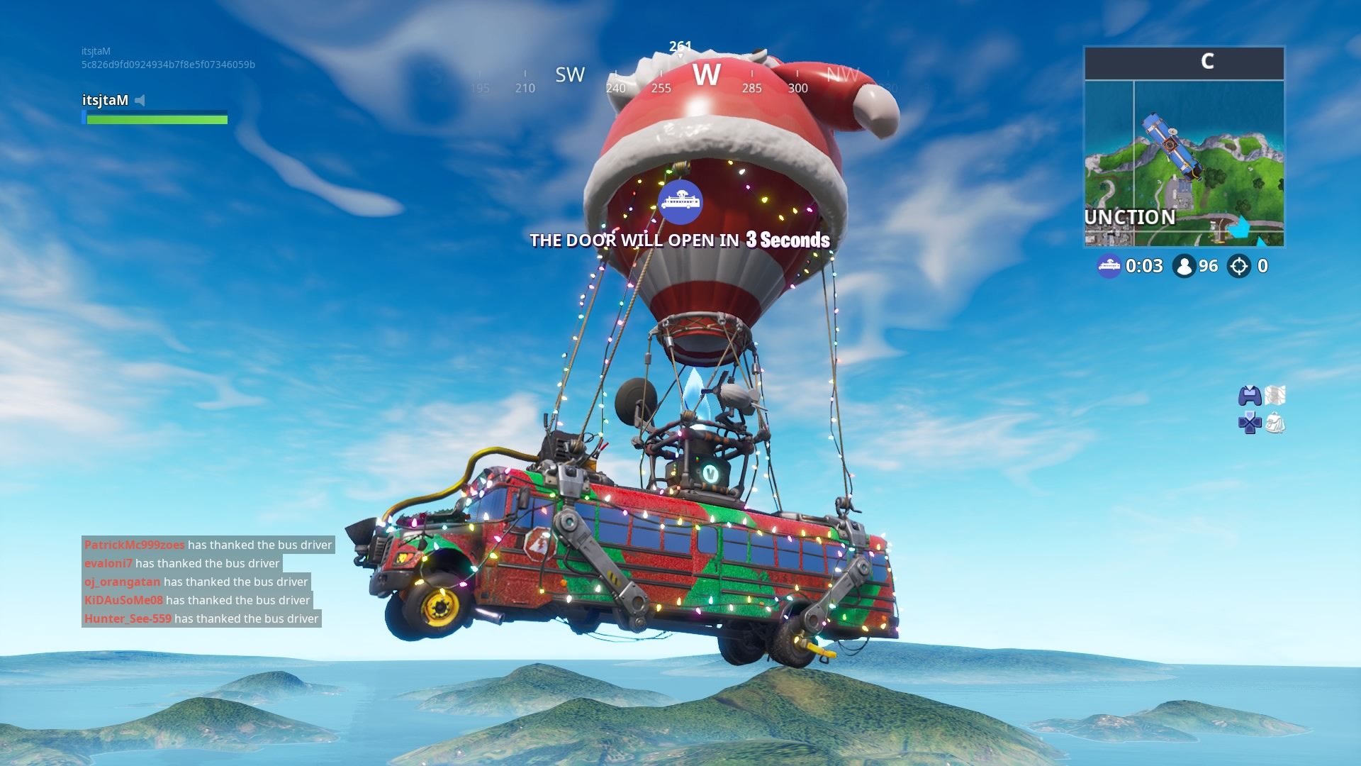 fortnite season 7 santa bus wallpaper 66486