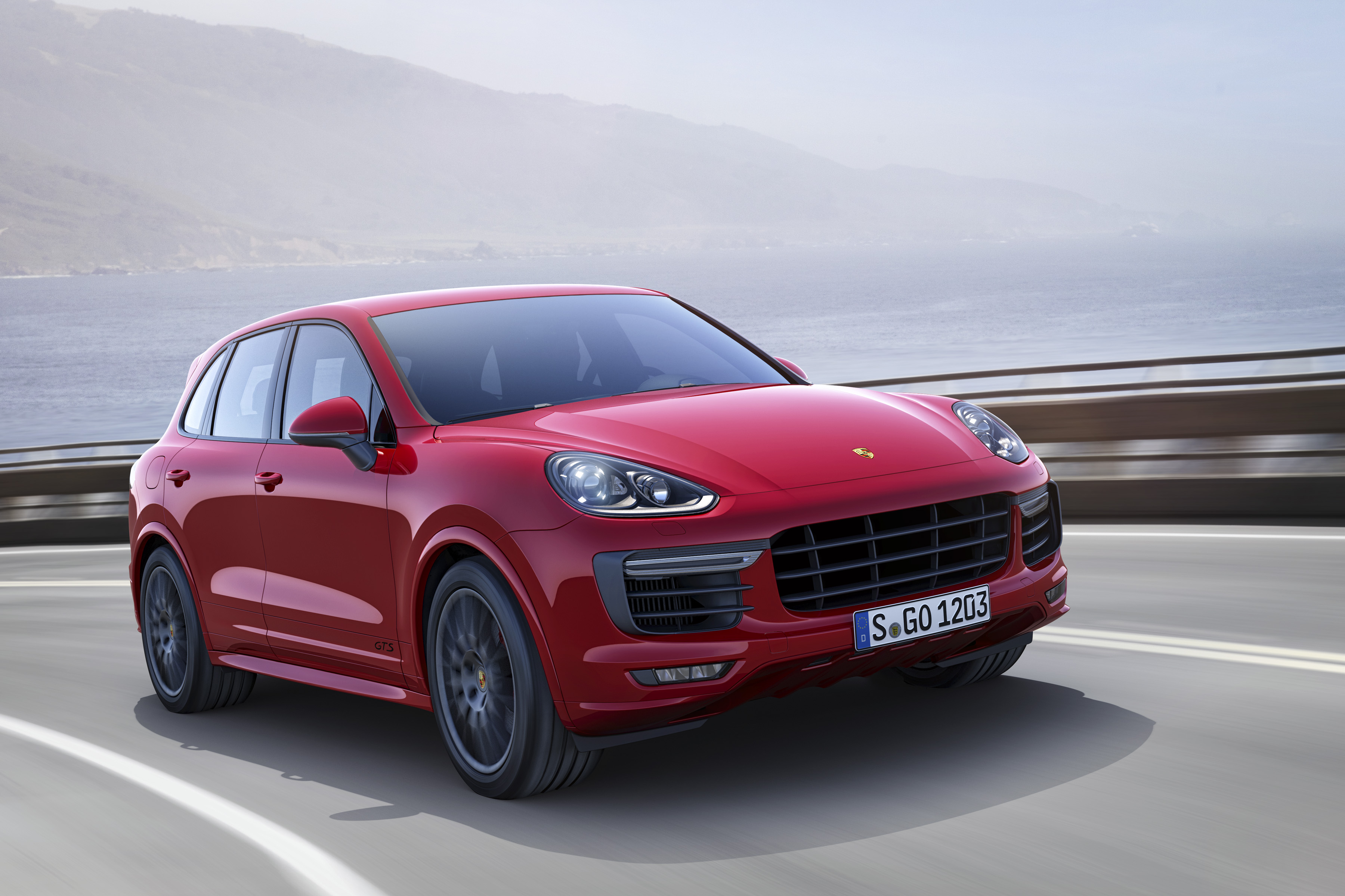 red porsche cayenne car wallpaper 66080