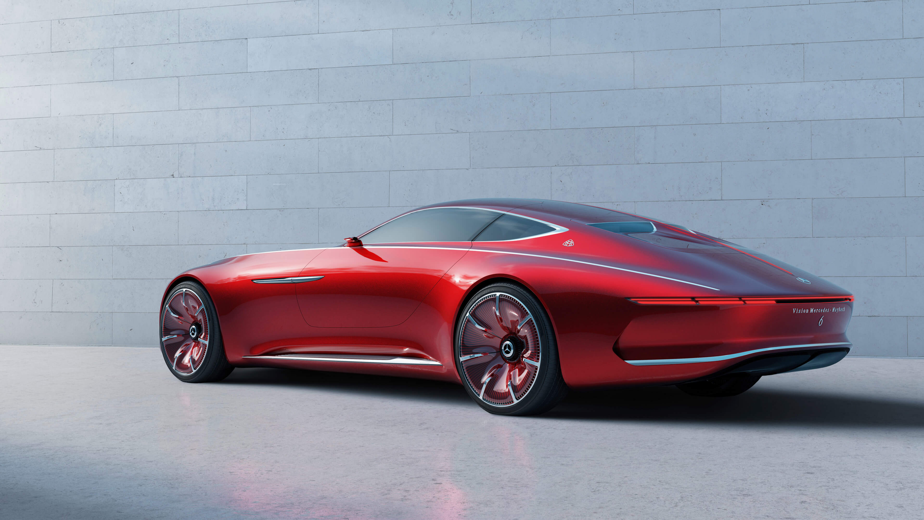 red vision mercedes maybach wallpaper background 63559