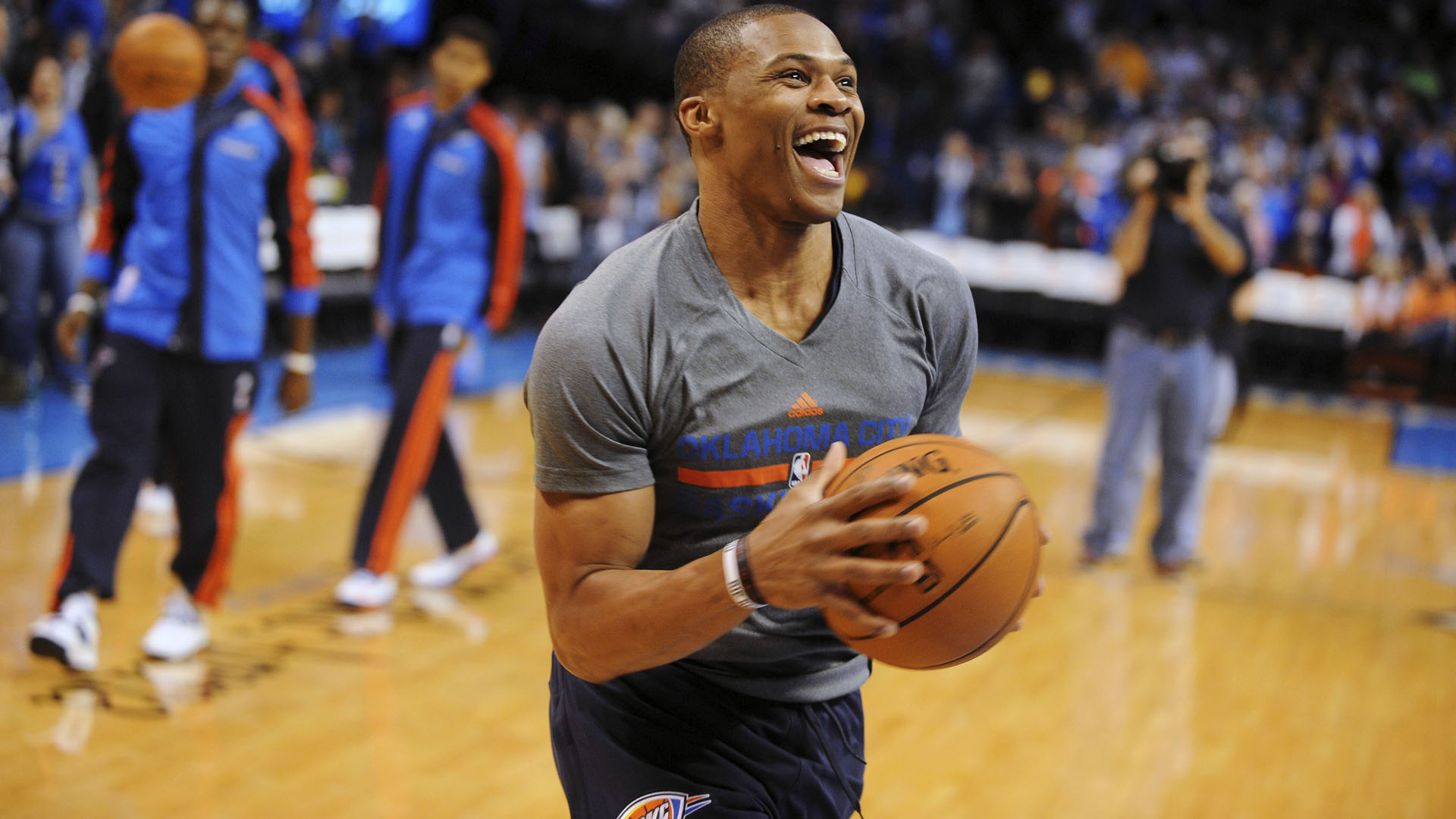 russell westbrook laughing hd wallpaper 63574