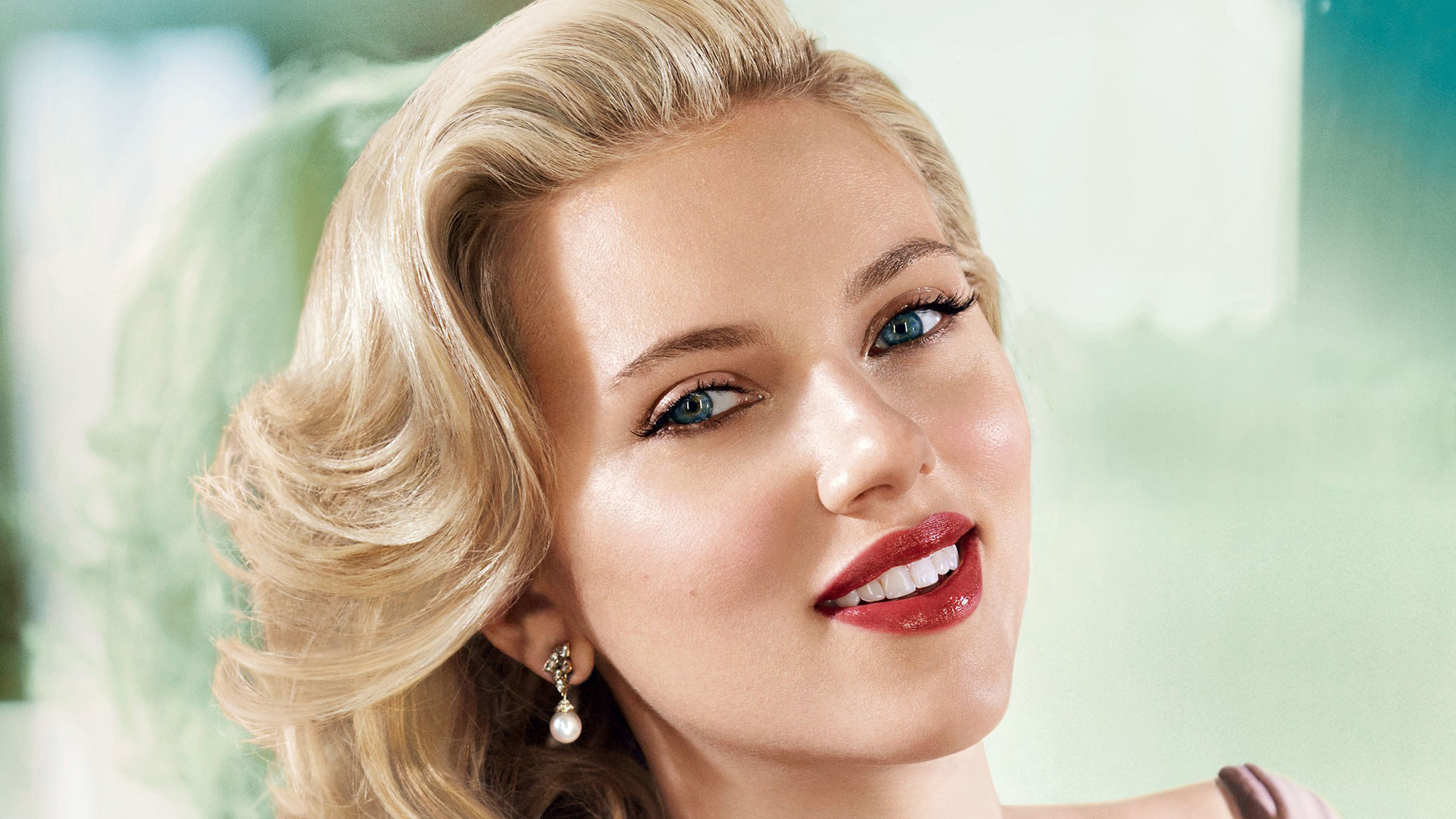 Scarlett Johansson Makeup HD Wallpaper 65778 2048x1152px