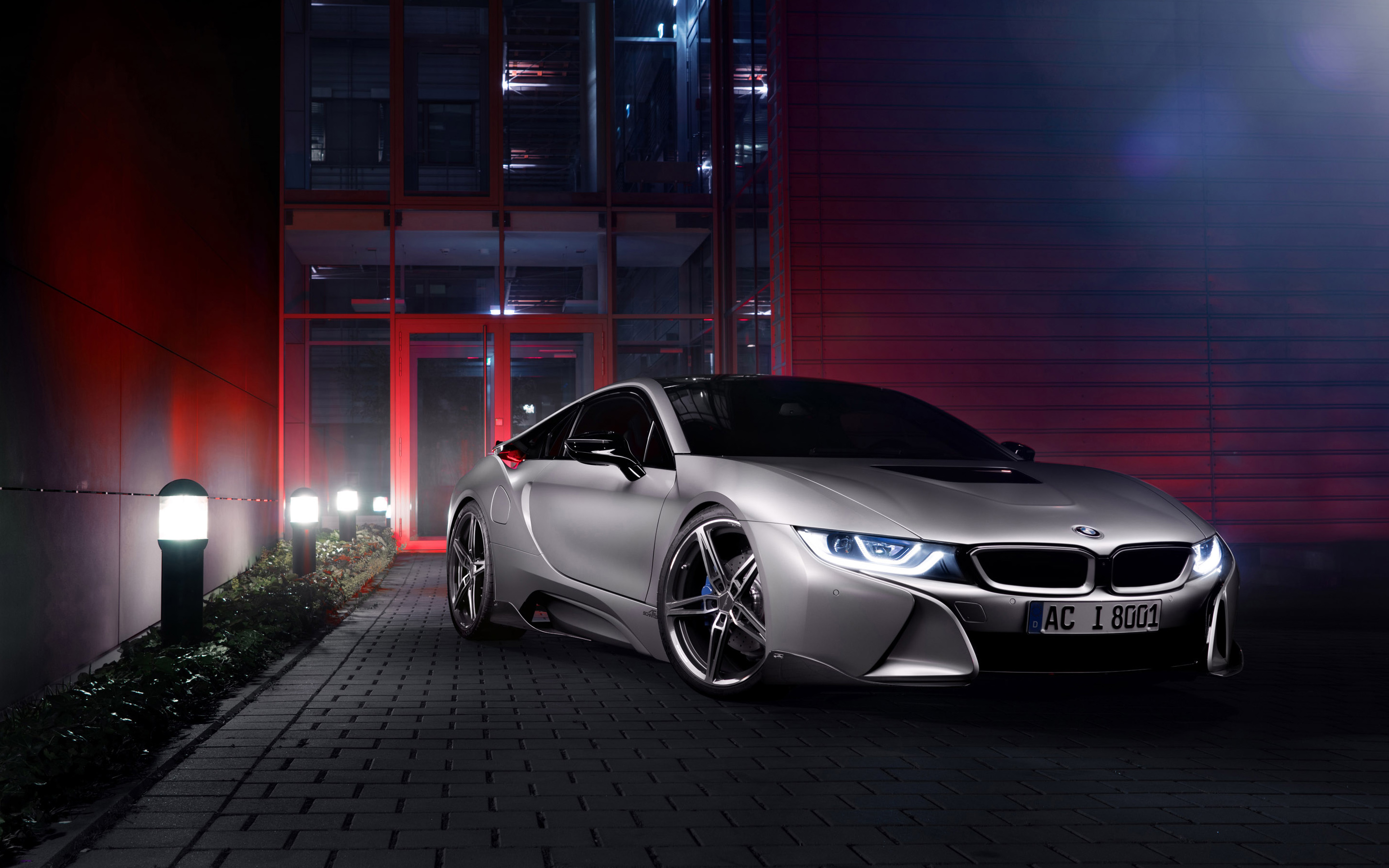 silver bmw i8 wide wallpaper 64639