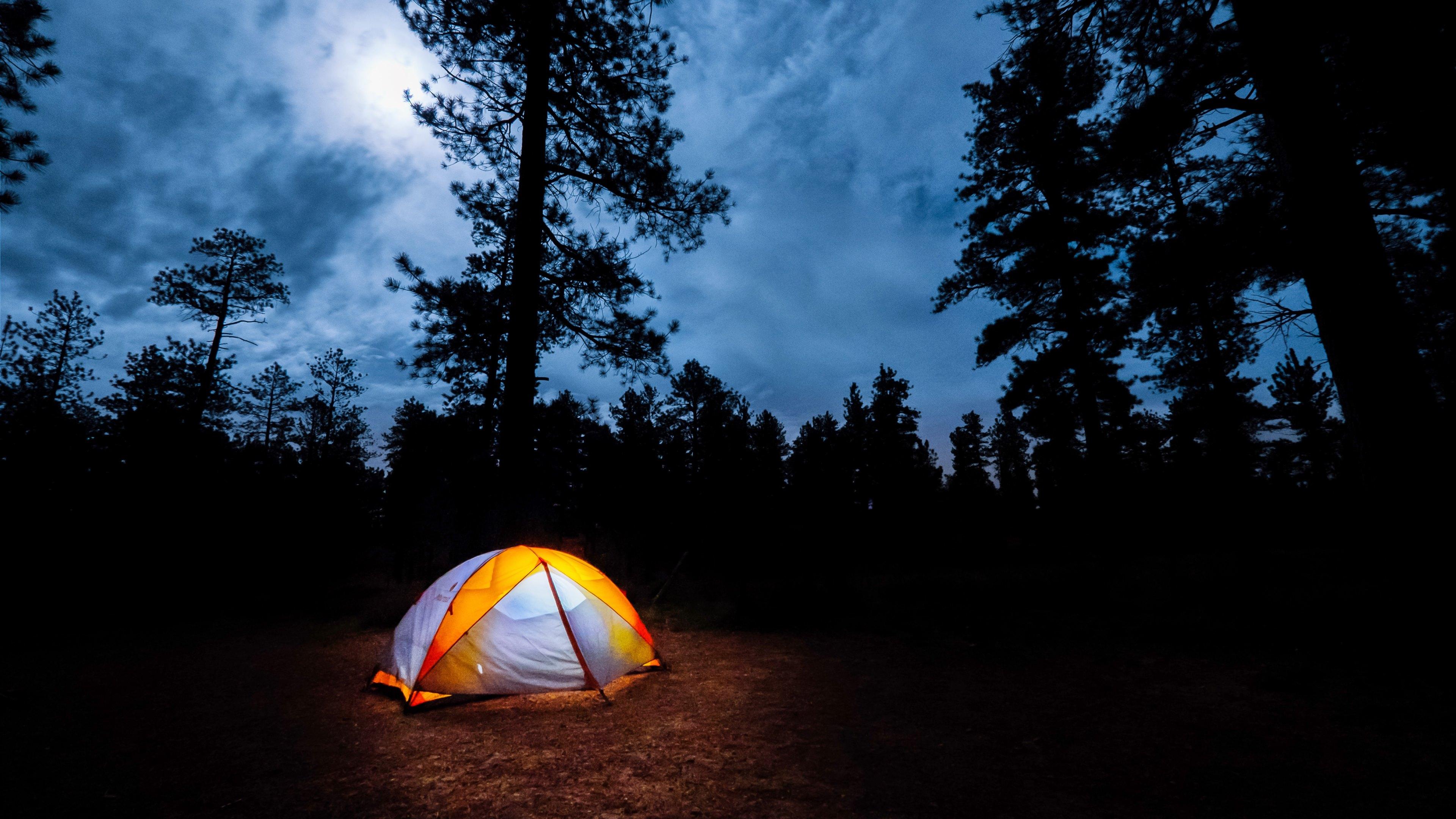 tent camping nature widescreen wallpaper 65764