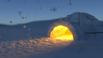 3D Igloo Widescreen Wallpaper 62560